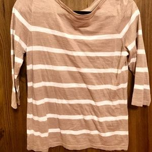 ***3 FOR $10 PROMO*** Striped 3/4 sleeve sweater